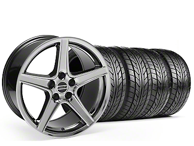 Staggered Saleen Black Chrome Wheel & NITTO Tire Kit - 18x9/10 (99-04)