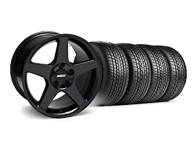 Staggered 2003 Cobra Black Wheel & Sumitomo Tire Kit - 17x9/10.5 (99-04)