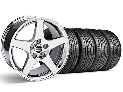 Staggered Chrome 2003 Cobra Wheel & Sumitomo Tire Kit - 17x9/10.5 (99-04)