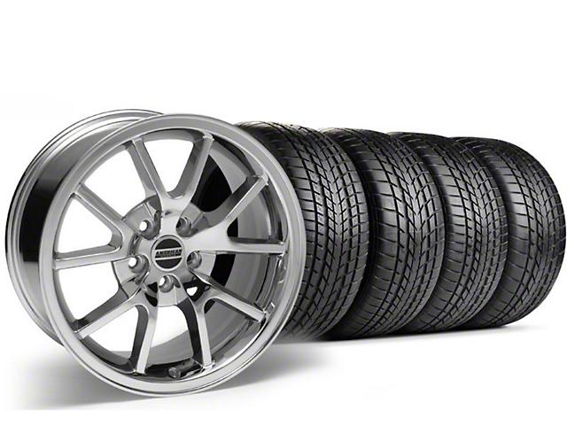 Staggered FR500 Style Chrome Wheel & Sumitomo Tire Kit - 17x9/10.5 (99-04)