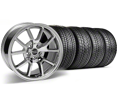 Staggered Chrome FR500 Wheel & Sumitomo Tire Kit - 17x9/10.5 (99-04)