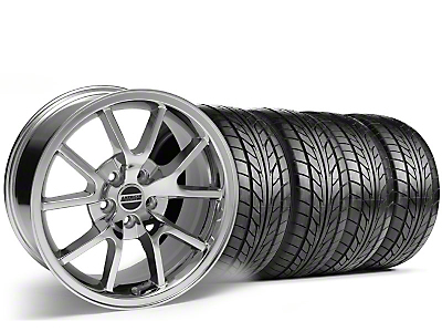 Staggered Chrome FR500 Wheel & NITTO Tire Kit - 18x9/10 (99-04)