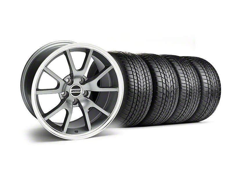 Staggered FR500 Style Anthracite Wheel & Sumitomo Tire Kit - 17x9/10.5 (99-04)