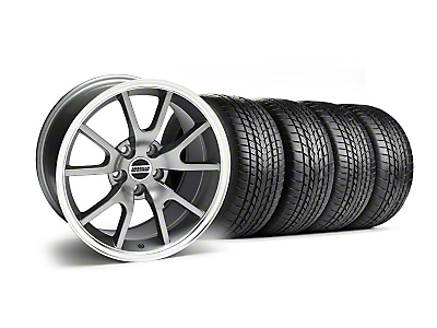 Staggered Anthracite FR500 Wheel & Sumitomo Tire Kit - 17x9/10.5 (99-04)
