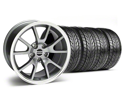 Staggered FR500 Style Anthracite Wheel & NITTO Tire Kit - 18x9/10 (99-04)