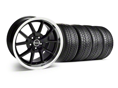 Staggered FR500 Style Black Wheel & Sumitomo Tire Kit - 17x9/10.5 (99-04)