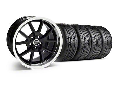 Staggered FR500 Style Black Wheel & Sumitomo Tire Kit - 17x9/10.5 (99-04)