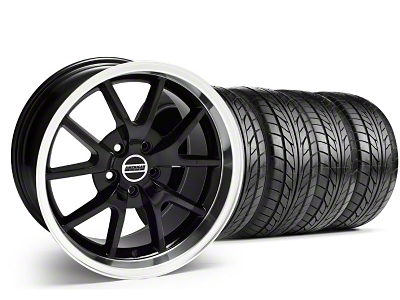 Staggered FR500 Style Black Wheel & NITTO Tire Kit - 18x9/10 (99-04)
