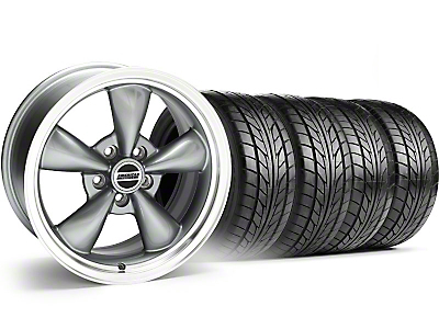 Bullitt Anthracite Wheel & NITTO Tire Kit - 17x9 (05-14 V6; 05-10 GT, Excluding GT500)