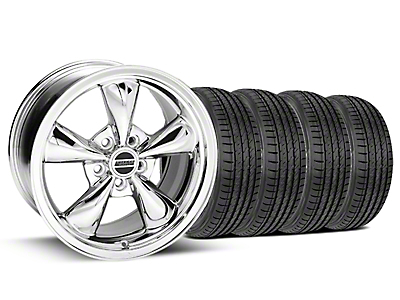 Chrome Bullitt Wheel & Sumitomo Tire Kit - 17x9 (99-04)