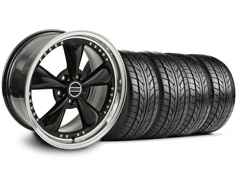 Bullitt Motorsport Black Wheel & NITTO Tire Kit - 18x9 (99-04)