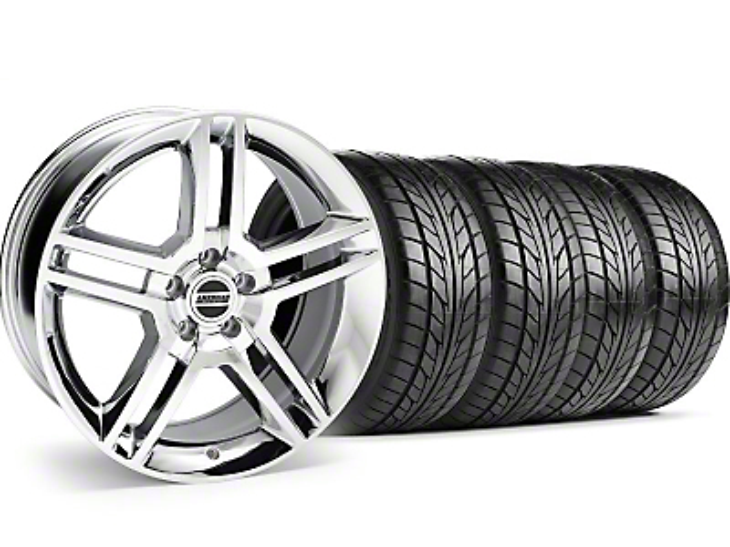 2010 GT500 Style Chrome Wheel & NITTO Tire Kit - 18x9 (99-04)
