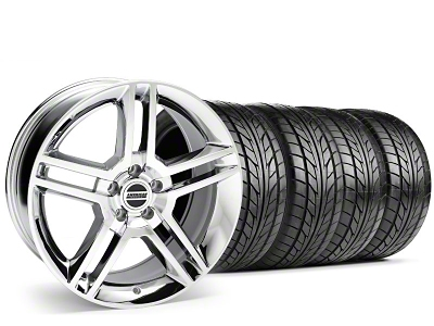 Staggered 2010 GT500 Style Chrome Wheel & NITTO Tire Kit - 18x9/10 (99-04)