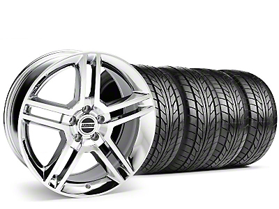 Staggered 2010 GT500 Chrome Wheel & NITTO Tire Kit - 18x9/10 (99-04)