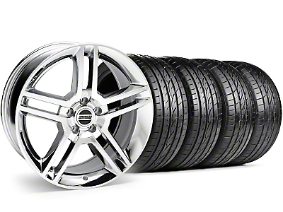 Chrome 2010 GT500 Wheel & Sumitomo Tire Kit - 19x8.5 (99-04)