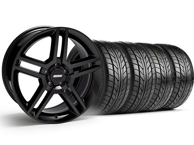 2010 GT500 Style Black Wheel & NITTO Tire Kit - 18x9 (99-04)