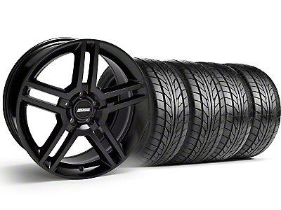 2010 GT500 Style Black Wheel & NITTO Tire Kit - 18x9 (99-04)