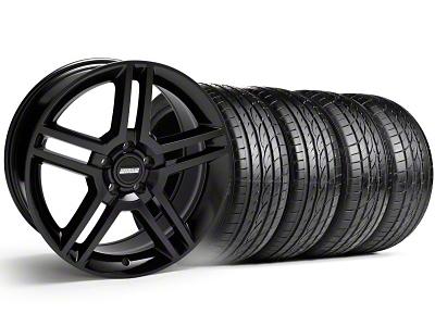 2010 GT500 Style Black Wheel & Sumitomo Tire Kit - 19x8.5 (99-04)