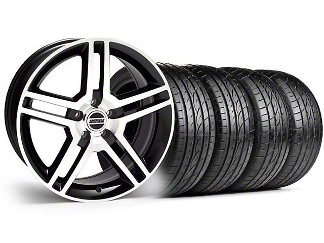 2010 GT500 Style Black Machined Wheel & Sumitomo Tire Kit - 19x8.5 (99-04)