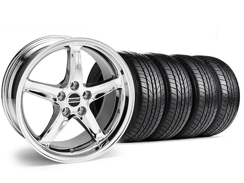 1995 Cobra R Style Chrome Wheel & Sumitomo Tire Kit - 16x8 (99-04)