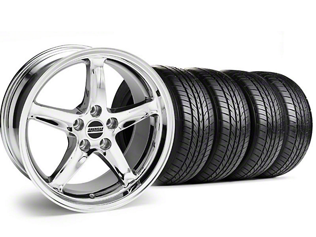 1995 Cobra R Style Chrome Wheel & Sumitomo Tire Kit - 16x8 (99-04)