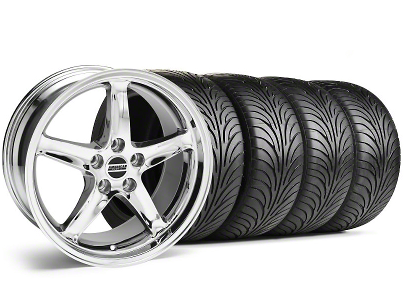 1995 Cobra R Style Chrome Wheel & Sumitomo Tire Kit - 17x9 (99-04)