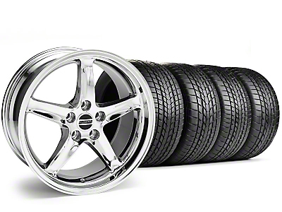 Staggered Chrome 1995 Style Cobra R Wheel & Sumitomo Tire Kit - 17x9/10.5 (99-04)