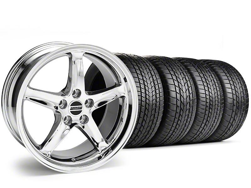 Staggered 1995 Cobra R Style Chrome Wheel & Sumitomo Tire Kit - 17x9/10.5 (99-04)