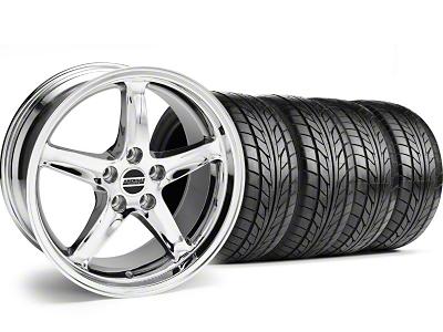1995 Cobra R Style Chrome Wheel & NITTO Tire Kit - 18x9 (99-04)