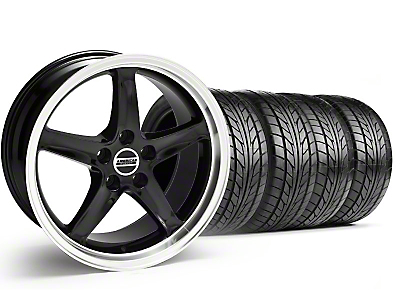 Black 1995 Style Cobra R Wheel & NITTO Tire Kit - 18x9 (99-04)