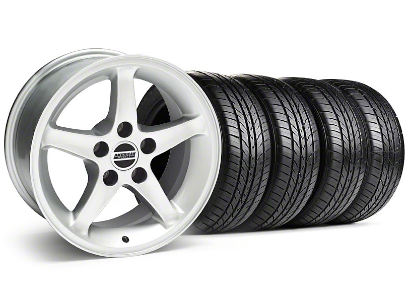 1995 Cobra R Style Silver Wheel & Sumitomo Tire Kit - 16x8 (99-04)