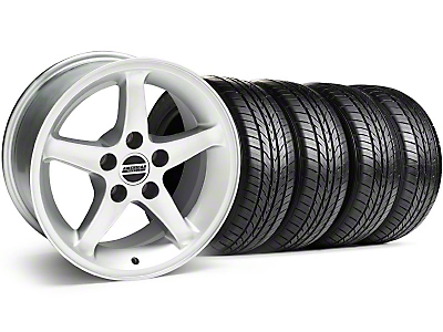 1995 Cobra R Silver Wheel & Sumitomo Tire Kit - 16x8 (99-04)