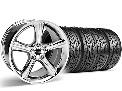 Staggered Chrome 2010 Style GT Premium Wheel & NITTO Tire Kit - 18x9/10 (99-04)