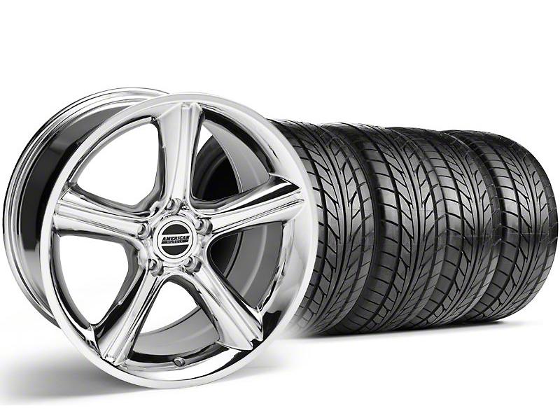 Staggered 2010 GT Premium Style Chrome Wheel & NITTO Tire Kit - 18x9/10 (99-04)