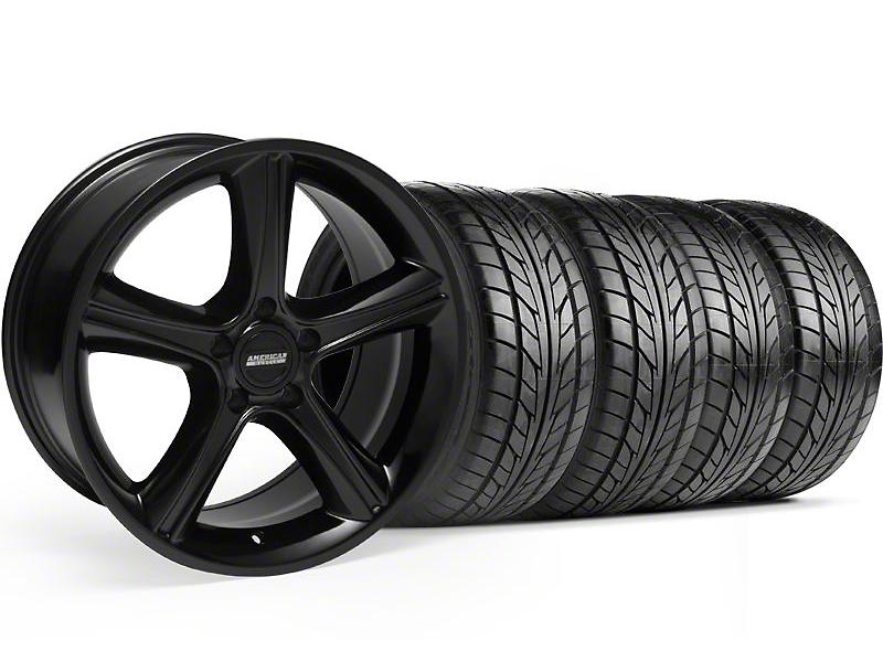 2010 GT Premium Style Black Wheel & NITTO Tire Kit - 18x9 (99-04)