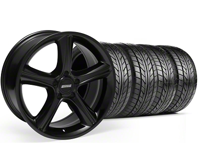 Staggered 2010 GT Premium Style Black Wheel & NITTO Tire Kit - 18x9/10 (99-04)