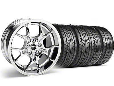 Chrome GT4 Wheel & NITTO Tire Kit - 18x9 (99-04)