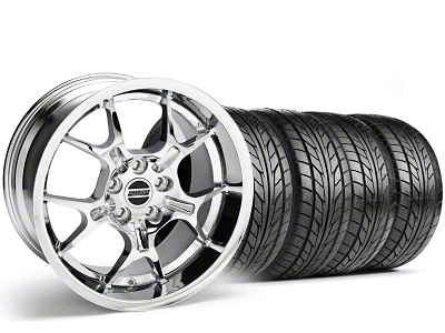 Staggered GT4 Chrome Wheel & NITTO Tire Kit - 18x9/10 (99-04)