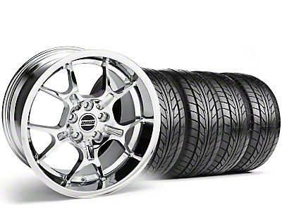 Staggered Chrome GT4 Wheel & NITTO Tire Kit - 18x9/10 (99-04)