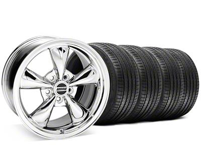 Staggered Bullitt Chrome Wheel & Sumitomo Tire Kit - 20x8.5/10 (05-14 V6; 05-10 GT)
