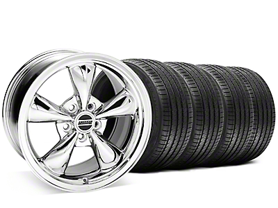 Staggered Chrome Bullitt Wheel & Sumitomo Tire Kit - 20x8.5/10 (05-10 GT, V6)