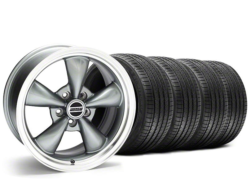 Staggered Bullitt Anthracite Wheel & Sumitomo Tire Kit - 20x8.5/10 (05-14 V6; 05-10 GT)