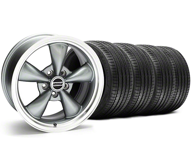 Staggered Bullitt Anthracite Wheel & Sumitomo Tire Kit - 20x8.5/10 (05-14 V6; 05-10 GT)
