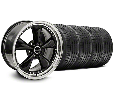 Staggered Bullitt Motorsport Black Wheel & Sumitomo Tire Kit - 20x8.5/10 (05-14)