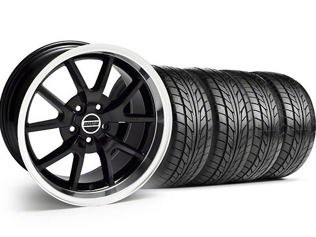 FR500 Style Black Wheel & NITTO Tire Kit - 18x9 (05-14)