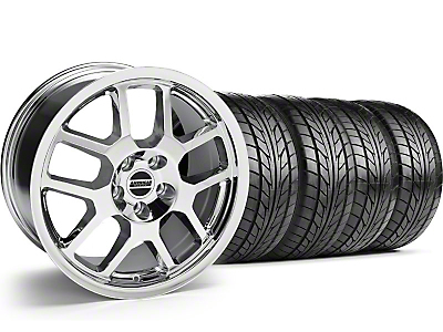 Chrome 2007 Style GT500 Wheel & NITTO Tire Kit - 18x9.5 (05-14)