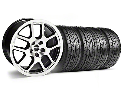 Black Machined 2007 Style GT500 Wheel & NITTO Tire Kit - 18x9.5 (05-14)