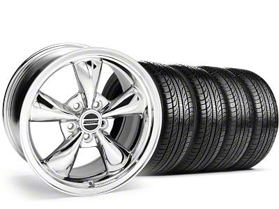Staggered Bullitt Chrome Wheel & Pirelli Tire Kit - 19x8.5/10 (05-14 GT, V6)