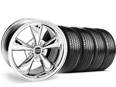 Staggered Chrome Bullitt Wheel & Pirelli Tire Kit - 19x8.5/10 (05-14)