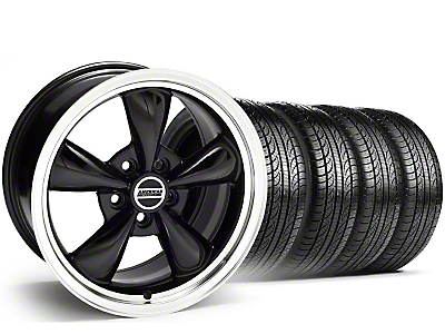 Staggered Bullitt Black Wheel & Pirelli Tire Kit - 19x8.5/10 (05-14)
